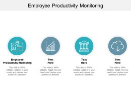 Employee Productivity Monitoring Ppt Powerpoint Presentation Outline Slideshow Cpb