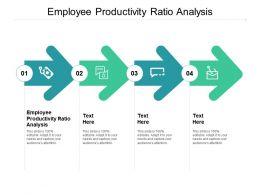 Employee Productivity Ratio Analysis Ppt Powerpoint Presentation Tips Cpb