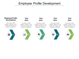 Employee Profile Development Ppt Powerpoint Presentation Model Cpb