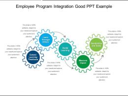 Employee Program Integration Good PPT Example