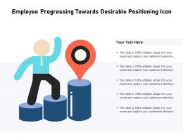 Employee Progressing Towards Desirable Positioning Icon