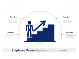 Employee Promotion Icon With An Arrow