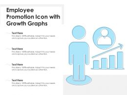 Employee Promotion Icon With Growth Graphs