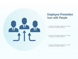Employee Promotion Icon With People