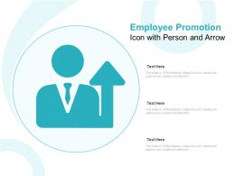 Employee Promotion Icon With Person And Arrow