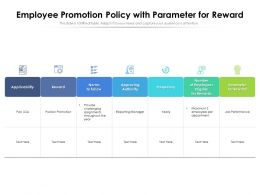 Employee Promotion Policy With Parameter For Reward