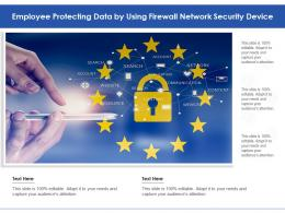 Employee Protecting Data By Using Firewall Network Security Device