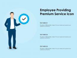 Employee Providing Premium Service Icon