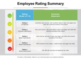 Employee Rating Summary Ppt Infographic Template Format Ideas