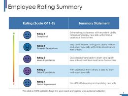 Employee Rating Summary Ppt Pictures Graphics Design