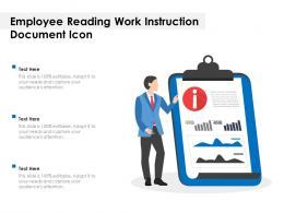 Employee Reading Work Instruction Document Icon