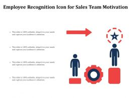 Employee Recognition Icon For Sales Team Motivation