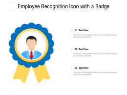Employee Recognition Icon With A Badge