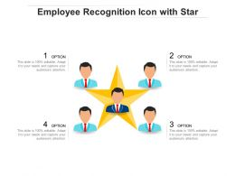 Employee Recognition Icon With Star
