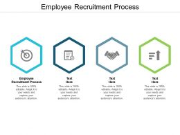 Employee Recruitment Process Ppt Powerpoint Presentation Model Visual Aids Cpb