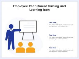 Employee Recruitment Training And Learning Icon