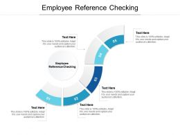 Employee Reference Checking Ppt Powerpoint Presentation Inspiration Deck Cpb