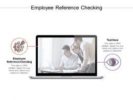 Employee Reference Checking Ppt Powerpoint Presentation Slides Icon Cpb
