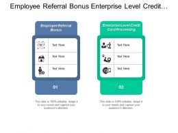 Employee Referral Bonus Enterprise Level Credit Card Processing Cpb