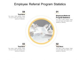 Employee Referral Program Statistics Ppt Powerpoint Presentation Slides Download Cpb