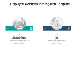 Employee Relations Investigation Template Ppt Powerpoint Presentation Good Cpb