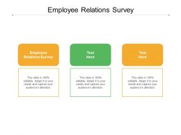 Employee Relations Survey Ppt Powerpoint Presentation Portfolio Show Cpb
