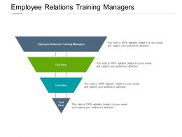 Employee Relations Training Managers Ppt Powerpoint Presentation Ideas Outline Cpb