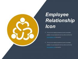 Employee Relationship Icon Example Of Ppt Presentation