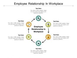 Employee Relationship In Workplace Ppt Powerpoint Presentation Diagram Lists Cpb