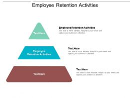 Employee Retention Activities Ppt Powerpoint Presentation Model Graphics Cpb