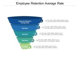 Employee Retention Average Rate Ppt Powerpoint Presentation Model Influencers Cpb