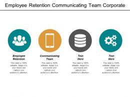 Employee Retention Communicating Team Corporate Marketing Plan Product Validation Cpb