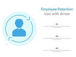 Employee Retention Icon With Arrow
