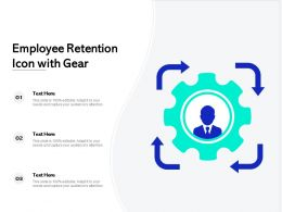Employee Retention Icon With Gear