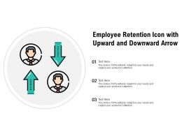 Employee Retention Icon With Upward And Downward Arrow