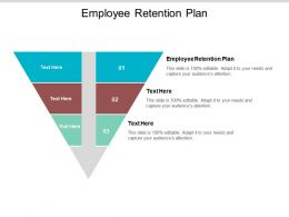 Employee Retention Plan Ppt Powerpoint Presentation Gallery File Formats Cpb