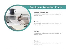 Employee Retention Plans Ppt Powerpoint Presentation Pictures Structure Cpb