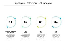 Employee Retention Risk Analysis Ppt Powerpoint Presentation Outline Example Topics Cpb