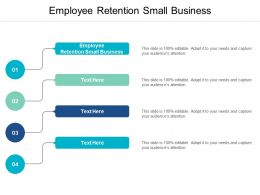 Employee Retention Small Business Ppt Powerpoint Presentation Pictures Graphic Tips Cpb
