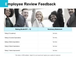 Employee Review Feedback Statement Ppt Powerpoint Presentation Portfolio