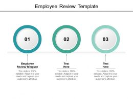 Employee Review Template Ppt Powerpoint Presentation Background Designs Cpb