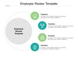 Employee Review Template Ppt Powerpoint Presentation Model Microsoft Cpb