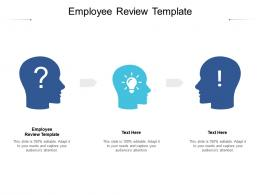 Employee Review Template Ppt Powerpoint Presentation Slides Layouts Cpb