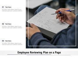 Employee Reviewing Plan On A Page