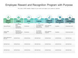 Employee Reward And Recognition Program With Purpose