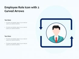 Employee Role Icon With 2 Curved Arrows