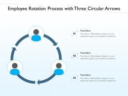 Employee Rotation Process With Three Circular Arrows