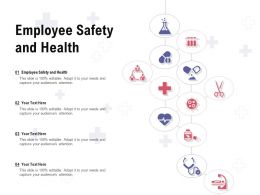 Employee Safety And Health Ppt Powerpoint Presentation Pictures Ideas