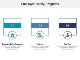 Employee Safety Programs Ppt Powerpoint Presentation Slides Model Cpb