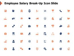 Employee Salary Break Up Icon Slide Employee Salary Powerpoint Presentation Skills